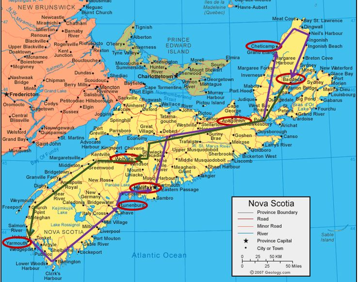 nova-scotia-map with trip